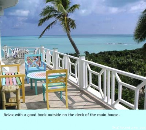 Deck with view - Voted most exclusive luxury estate on Little Exuma