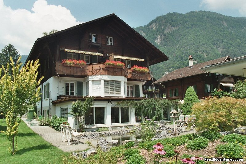 Bed & Breakfast in a beautifull newly renovated Swiss chalet looking out on the Jungfrau mountain. Hotel quality colourful rooms all ensuite , great breakfast , useful advice  at a very reasonable price. What miore could you want?