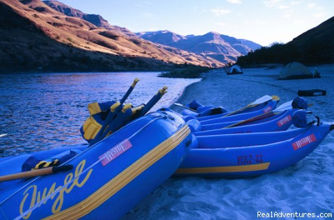 Big beaches on Idaho's Lower Salmon - Oregon Rafting at its Best