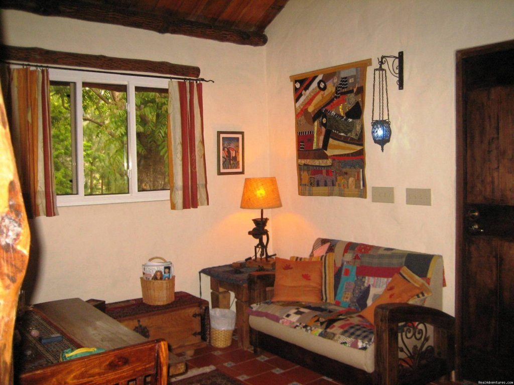 Little Living Room Couch | Image #22/22 | Cabins/Cottages for Rent in Altos del Maria