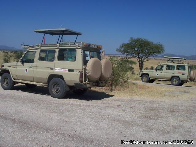 Two of our World Tours Safari vehicle's - World Tours And Safaris Tanzania