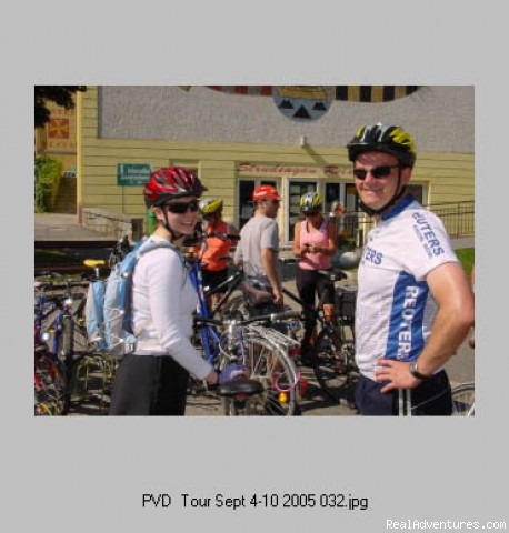 Getting ready to set off - Artstetten, Austria - First Light Bicycle Tours