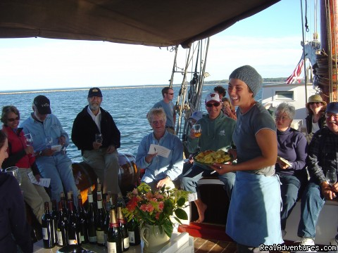 We're famous for our food and wine - Sail the Maine Coast on the Schooner Stephen Taber