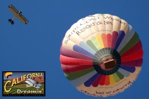 Romantic Balloon or Biplane Flight and B & B Ballooning Temecula, California