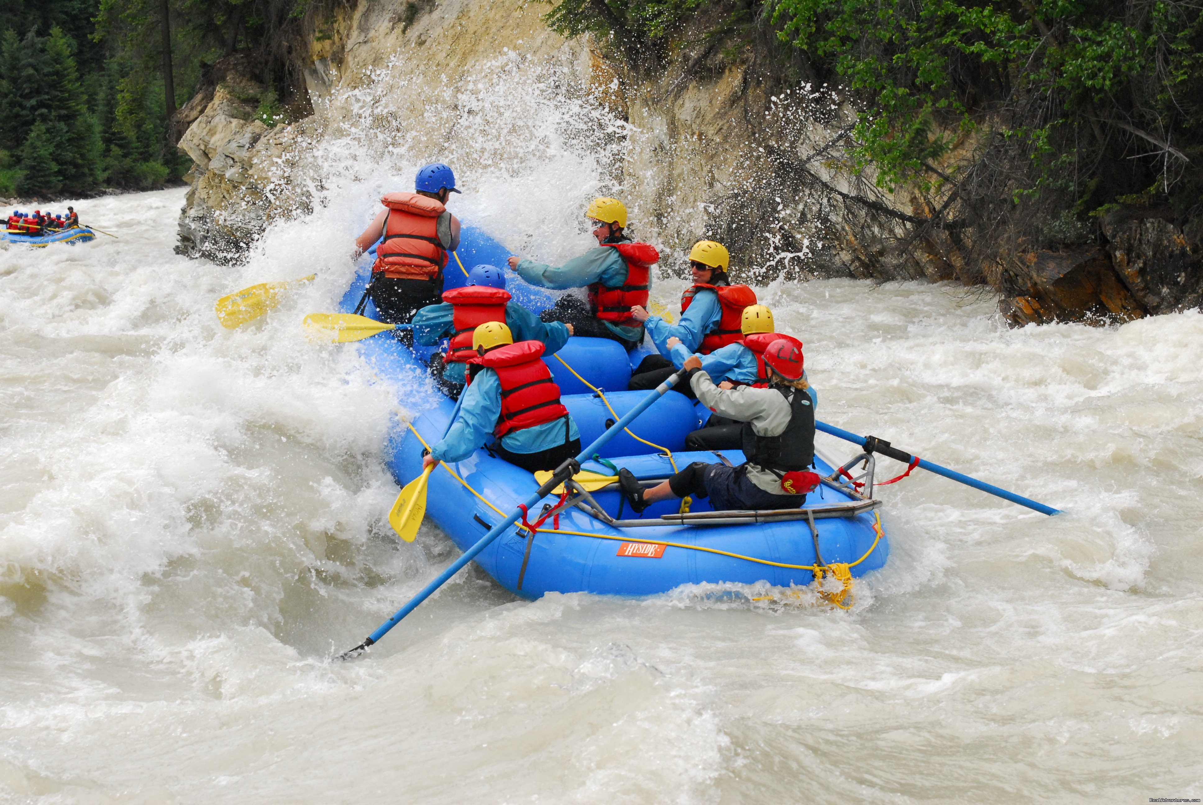 whitewater rafting on the kicking horse river golden alberta rafting trips realadventures