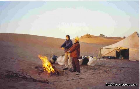 Sand Dunes of Merzouga - Tempete du Sud - Maroc