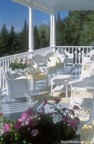 The veranda - Simply beautiful, Blair Hill Inn at Moosehead Lake