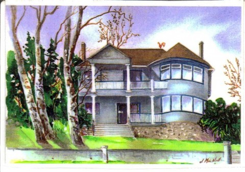 An artists's rendition of the original - Victorian Luxury Downtown Nanaimo B&B