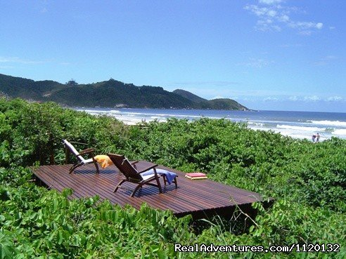 Deck over native vegetation | Image #11/15 | Romantic Weekend Getaways at a Beachfront B&B