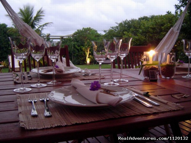 Dinner by candlelight - Romantic Weekend Getaways at a Beachfront B&B
