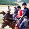 Horse riding in Central Mongolia
