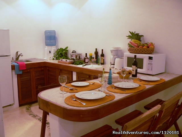 Fully equipped kitchen - Beautiful Playa del Carmen Condo Best Location