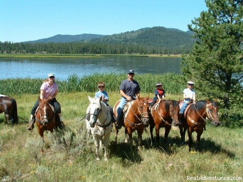 Fantastic Horseback Riding in Yellowstone Country Riders streamside