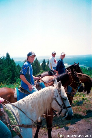 Top of ridge - Fantastic Horseback Riding in Yellowstone Country