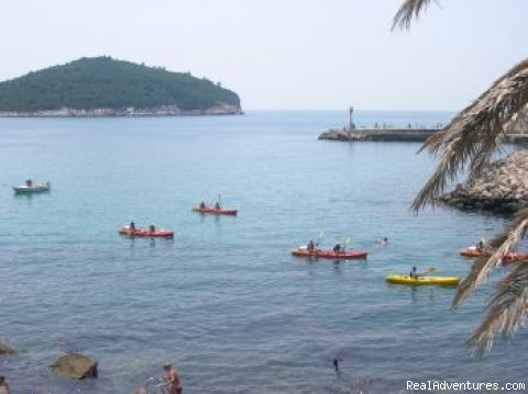 Sea kayaking Dubrovnik - Sea kayaking in Dubrovnik, city walls and island