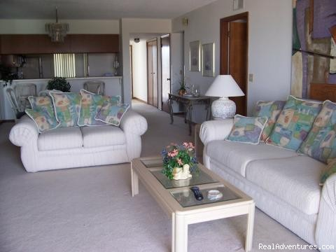 Luxurious Living Room - Cocoa Beach OCEANFRONT Condo!