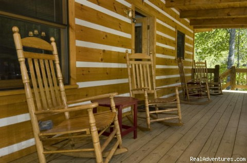 Front Porch - Over The Edge Cabin-A place to unwind
