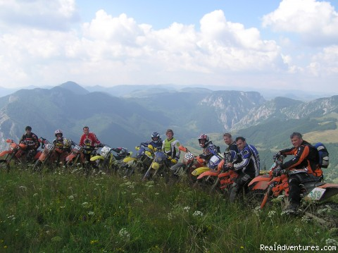 Explore rural Romania by ENDURO bike. all of us