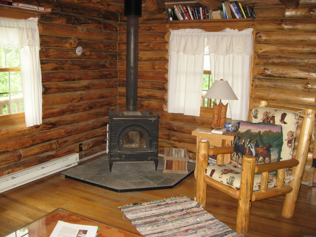 Wood burning stove in The Grandview | Image #4/13 | Where Nature Plays and Your Heart Sings