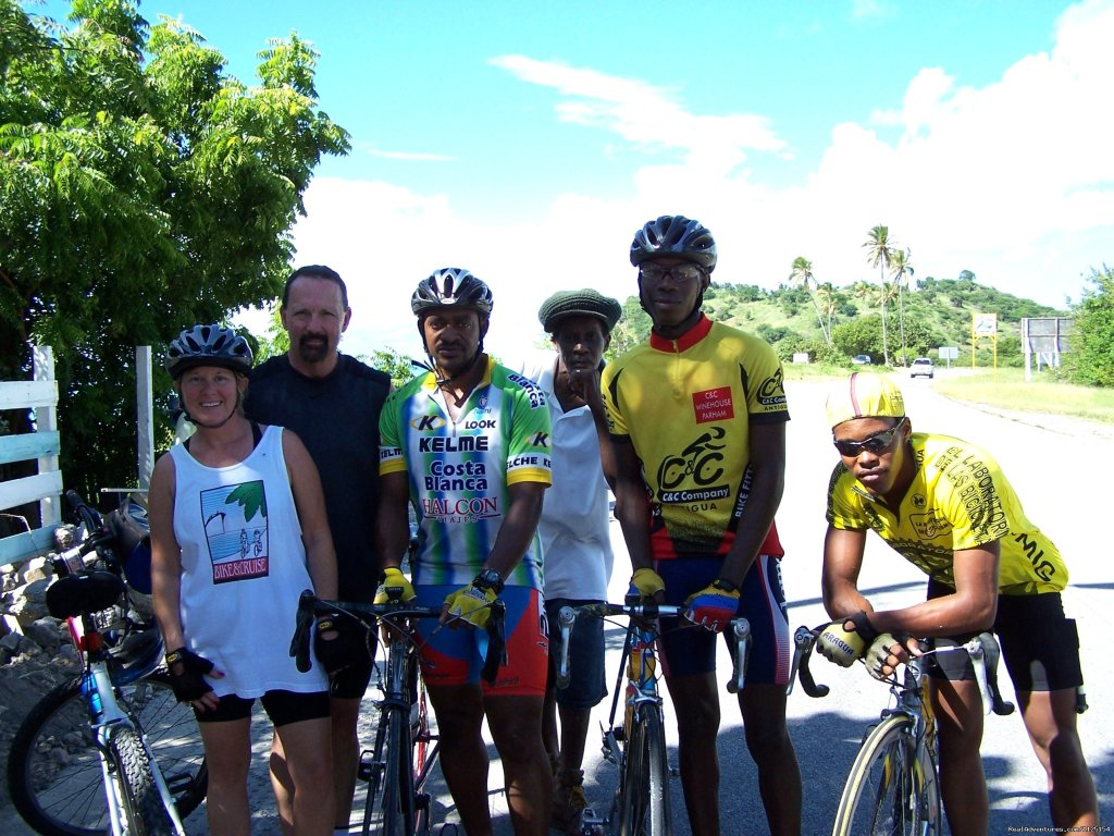 Caribbean..Johnny & Linda with long time friends and local g | Image #7/8 | Fun Bicycle Tours, Alaska, Caribbean & Europe.