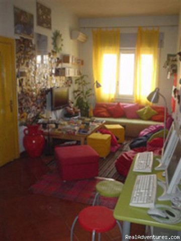 Hostel of the sun - Naples Italy common room