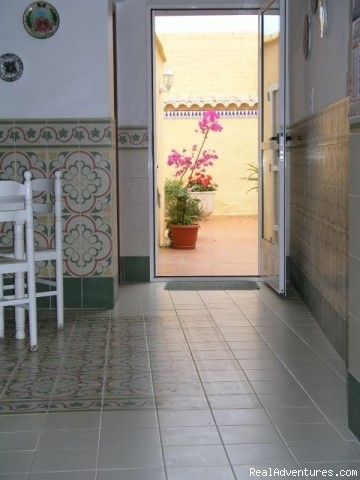 View of Patio from the kitchen/diner - Apartment, Vacation Rental in Gandia, Valencia