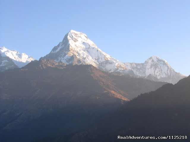 View From Poon Hill - Annapurna  Circuit  Trek Nepal