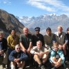 Group photo after throung la pass at phedi