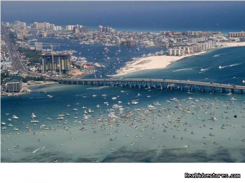 The Destin Harbor, The East Pass & Gulf of Mexico - Most Unique Location in Destin   Sept: $99/nt