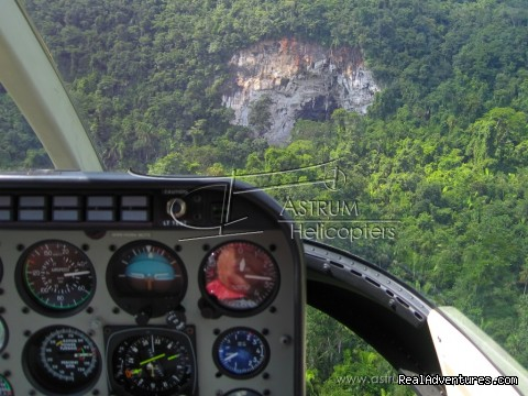 River Cave Entrance - Helicopter Tours & Transfers in Belize.