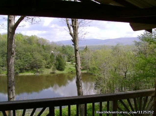 Shenandoah River Cabins -LionCrowCabins, Luray, VA View From Mountain View Pond
