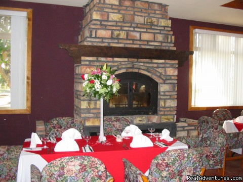Frieplace in Banquet room - Posada Don Diego R.V. Park-Motel-Restaurant-Bar