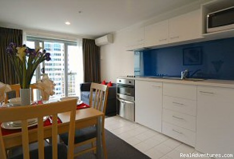 Full kitchen facilties - Bankside Waldorf Apartments