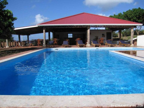 Statia Lodge a piece of paradise: Pool & pool house