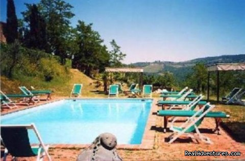 the swimming pool - romantic country B&B POGGIO AL SORBO