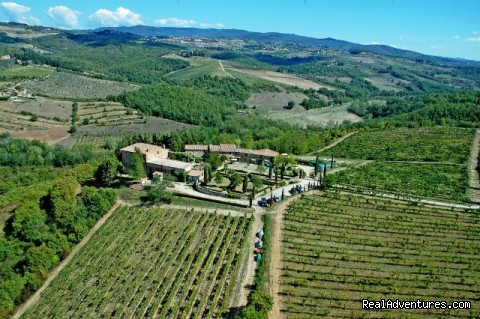 air view - romantic country B&B POGGIO AL SORBO