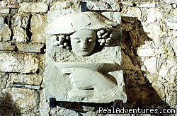 Bacco sculpture placed in the ancient wine cellar - romantic country B&B POGGIO AL SORBO