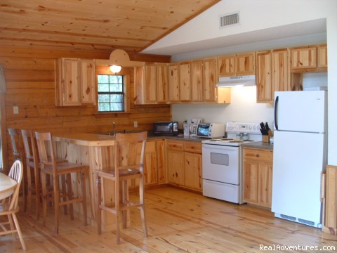 Chillin' Cabin Rental - Kitchen - Secluded Cabin Rental - Beavers Bend / Broken Bow