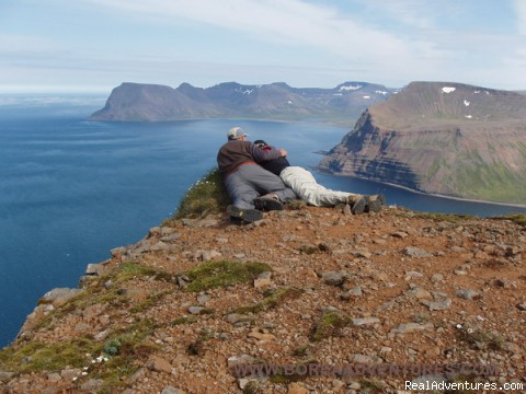 Enjoying the view - Outdoors adventures in the Westfjords of Iceland