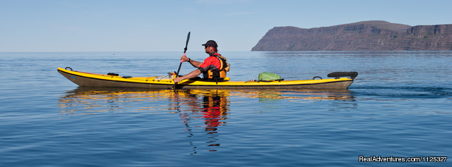 Kayaking - Outdoors adventures in the Westfjords of Iceland