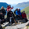 Hiking group in Hornstrandir