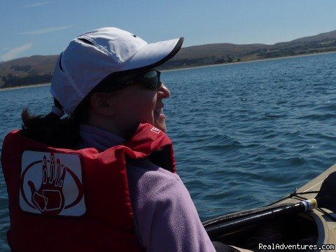 Kayaking the calm water of Bodega Bay - 1-5 Day California Cycling & Multisport Vacations
