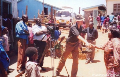 Filming  kibera Slums - Victoria Safaris