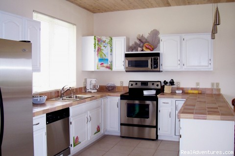 Conch Cottages kitchen - Bonefishing or snorkeling at your doorstep