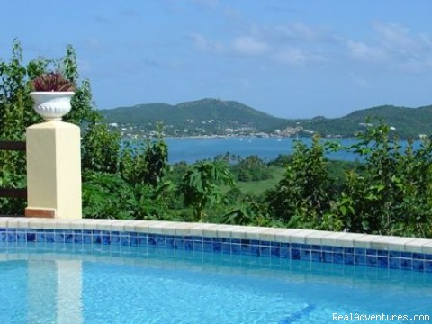 View over Falmouth Harbour - Arcavilla,luxury villa for rent with 6 bedrooms an