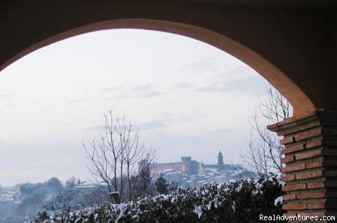 B&B ai Gatti del Castello (B&B the Castle's Cats): Portico View