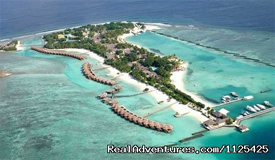 Arial View of Sheration Maldives Full Moon - Honeymoon In Maldives at Sheraton Full Moon Island
