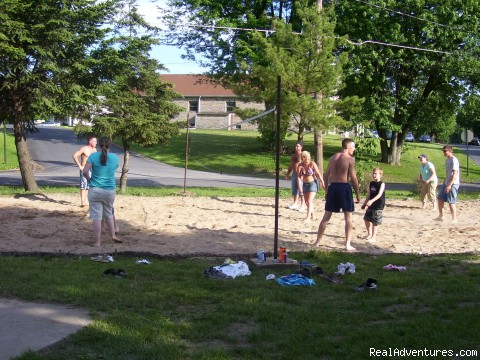 Volleyball Fun - Fantasy Island Campground