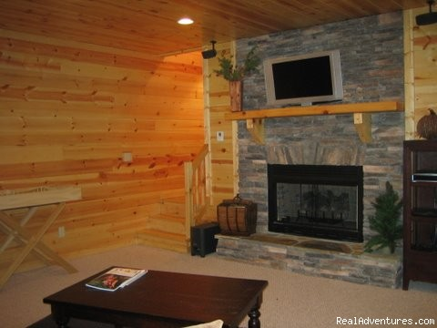 3 sided covered deck log furnishings - Luxury Cabin, FREE Night, Firepit, Mtn Views, NEW