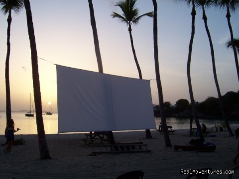 Monday Night Movies at the Beach (#26 of 26) - Eco Sensitive Canvas Cottages with an Ocean View